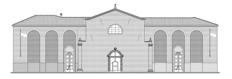 Restituzione grafica - piantina e rilievo istituto alberghiero Pellegrino Artusi Forlimpopoli - Marco Gatelli tecnico geometra di Forlì