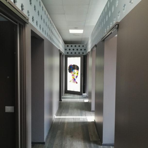 Centro estetico faenza - Straordinaria manutenzione - visione dei corridoi - Marco Gatelli tecnico geometra di Forlì